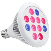 12W PAR38 LED Grow Lights, Regular E26 Sized Socket, Red + Blue for Hydroponic Plants, Greenhouse Lighting