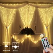 9.8*9.8ft LED Copper Wire Curtain Lights