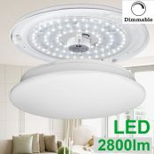 LE 40W Dimmable LED Flush Mount Ceiling Light,80W Fluorescent Lamp Replacement,2800LM,5000K,for Living Room and Bedroom