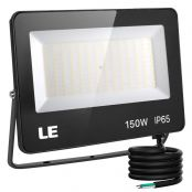 150W Outdoor LED Flood Light, 400W Metal Halide Equivalent, Waterproof IP65 Floodlight, 15000 Lumen, 5000K Daylight White