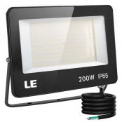 200W Outdoor LED Flood Light, 600W Metal Halide Equivalent, Waterproof IP65 Floodlight, 20000 Lumen, 5000K Daylight White