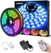 16ft RGB LE LED Strip Lights Kit, 5050 SMD LED Tape Lights, Power Adapter Included