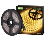 12V Flexible LED Strip Lights, LED Tape, Warm White, 300 Units 3528 LEDs, Non-waterproof, Light Strips, 16.4Ft 5M Spool