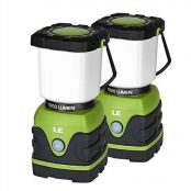 2 Pack Brightest LED Camping Lantern, 1000LM, Battery Powered, 4 Light Modes, Waterproof
