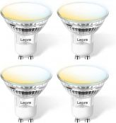 Lepro GU10 Smart LED Light Bulbs, Compatible with Alexa & Google Assistant, Dimmable with App, 50W Equivalent, Tunable White Track Light Bulb, No Hub Required, 2.4G WiFi Only, Pack of 4