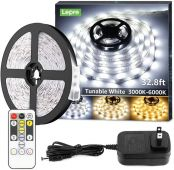 Lepro LED Strip Light, 3000K-6000K Tunable White, Dimmable Super Bright LED Tape Lights, 300 LEDs SMD 2835, Strong 3M Adhesive, Suitable for Home, Kitchen, Under Cabinet, Bedroom
