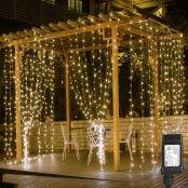 LE 306 LED Curtain Lights, 9.8 x 9.8 ft,