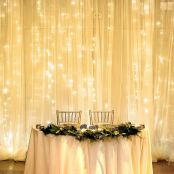 19.7x9.8ft LED Curtain Lights, 594 LED, 8 Modes, Warm White