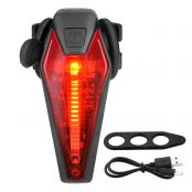 LED USB Rechargeable Bike Tail Light, Water Resistant Rear Bike Light for Warning