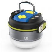 Rechargeable LED Camping Lantern 280lm/3000mAh Power Bank, 3 Lighting Modes, Water Resistant, Daylight/Neutral White, LED Tent Light, Emergency Lantern