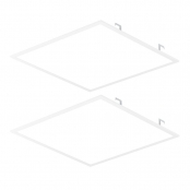 2 Pack 2x2 Flat Dimmable LED Panel Light, 40W,  4800 Lumens, White 5000K, DLC Rebates Available