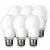 Pack of 6 Units, 10W A19 E26 LED Bulbs, 240° Flood Beam, 60W Incandescent Bulb Equivalent, 810lm, Warm White, LED Light Bulbs