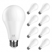 14W A19 Dimmable E26 Warm White LED Light Bulbs, Pack of 6 Units