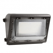 80W LED Wall Pack Light with Photocell, 300W Metal Halide Equivalent, Philips Lumileds LED, White 5000K, DLC Rebates Available