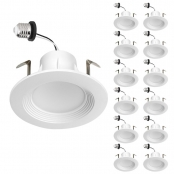 12 Pack 8.6W 4 inch LED Recessed Lights