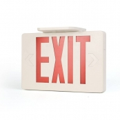 Double Sided LED Red Exit Sign, 6000K Daylight White LED Emergency Light, Battery Backup, UL CUL Listed