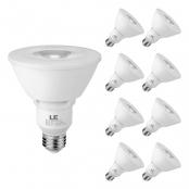 LE PAR30 E26 LED Light Bulbs, Medium Screw Base, 11W Dimmable, Spotlight, 75W Halogen Equivalent, 900 Lumens, 2700K Warm White, 40 Degree Beam Angle, Pack of 8