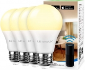 Lighting EVER LED Smart Light Bulbs Works with Alexa and Google Home, 60 Watt Equivalent, Dimmable with App, Warm White 2700K, No Hub Required, A19 E26, 2.4GHz WiFi, Pack of 4