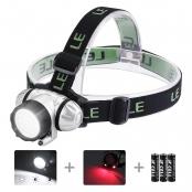 Super Bright LED Headlamps, 18 White LED and 2 Red LED, 4 Brightness Level