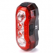 3W USB Rechargeable LED Bike Tail Light, Waterproof Rear Bike, 4 LEDs, 5 Light Modes, USB Cable Included