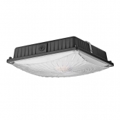 45W Daylight White Slim LED Canopy Light for Garages, 5300lm, Waterproof, 70W MH Bulb Equivalent