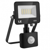 LE 15W LED Flood Light, Motion Sensor