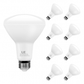LE BR30 E26 LED Light Bulbs, 10.5W 850lm, Dimmable, Equivalent to 65 Watt Incandescent, 5000K, Daylight White, 110° Wide Beam Angle, for Kitchens, Living Rooms, Bedrooms and More, Pack of 8