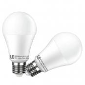 LE 2 Pack 7W A19 E26 LED Bulbs, 40W Incandescent Bulbs Equivalent, Non-Dimmable, 450lm, Warm White, 2700K, 200° Flood Beam, LED Light Bulbs