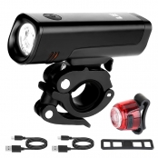5W 580lm Rechargeable Bike Light Set
