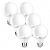 Pack of 6 Units, 5W G25 E26 LED Light Bulbs, Warm White, Globe Light Bulb
