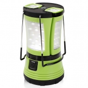 600lm Rechargeable Camp Lantern LED with 2 Detachable Mini Handy Flashlight Torch, Water Resistant Tent Light, USB Cable + Car Charger Included