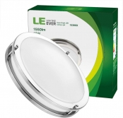 LE 12-Inch 18W Dimmable LED Flush Mount Ceiling Light, 120W Incandescent Bulbs Equivalent, 1550lm, 5000K Daylight White, 120° Beam Angle, LED Recessed Lighting Fixture, UL Listed