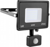 LE Outdoor LED Flood Light, Motion Sensor, IP65 Waterproof, 30W 2400 Lumen, 75W HPS Equivalent, Daylight White 5000K, Home Security Floodlight for Warehouse, Garage, Garden, Yard, Tree and More