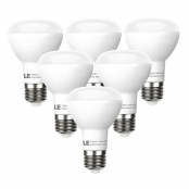 8W Dimmable 450lm 2700K BR20 LED Light Bulbs, 45W Incandescent Bulbs Equivalent, Pack of 6 Units
