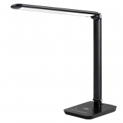 LE Dimmable LED Desk Lamp,Good for Back To School - 7 Brightness Levels, Soft Touch Dimmer, Daylight White, Eye Care Natural Light, Office Task Lamp for Reading, Dtudy, Computer Work and More (Black)