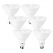 LE PAR38 E26 LED Light Bulbs, Medium Screw Base, 13W Dimmable, Spotlight, 100W Halogen Equivalent, 1050 Lumens, 2700K Warm White, 40 Degree Beam Angle, Pack of 6