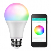 LE iLUX Bluetooth Mesh Smart Light Bulb, RGBW and White Light, No Hub Required, Voice/Music Sync, Dimmable, Color Changing, 9W 800lm A19 E26 LED Bulbs, Programmable APP alternative to DMX512 System
