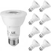LE PAR20 E26 LED Light Bulbs, Medium Screw Base, 7W Dimmable, Spotlight, 50W Halogen Equivalent, 540lm, Daylight White 5000K, 40 Degree Beam Angle, Pack of 8