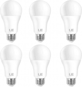 LE 100W Equivalent LED Light Bulbs, 14W 1550 Lumens, 2700K Warm White, Non-Dimmable, A19 E26 Standard Base, UL/FCC Listed, 15000 Hour Lifetime, Pack of 6