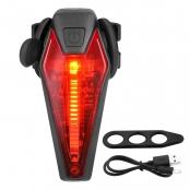 LED USB Rechargeable Bike Tail Light, Water Resistant Rear Bike Light for Warning