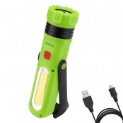 Multi-mode USB Rechargeable Daylight White LED Work Light Flashlight for Emergency