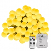 19.68ft Remote Control Battery Powered Warm White LED Globe String Lights for Christmas Decor