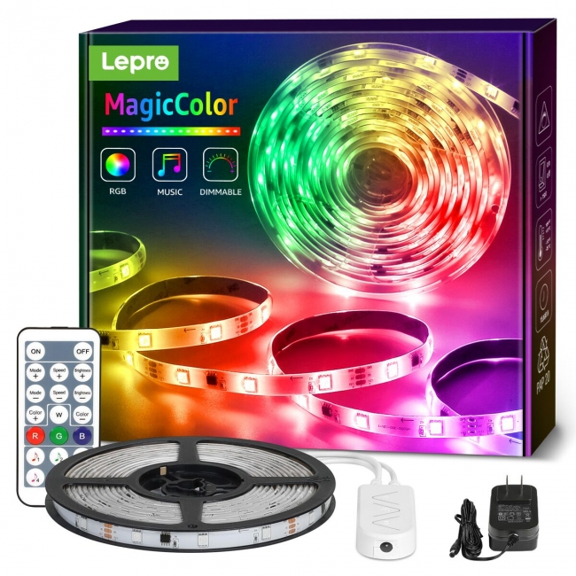 led strip lights with chasing effect
