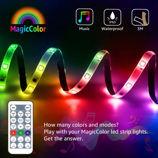 lepro magic color led strips with chasing effect