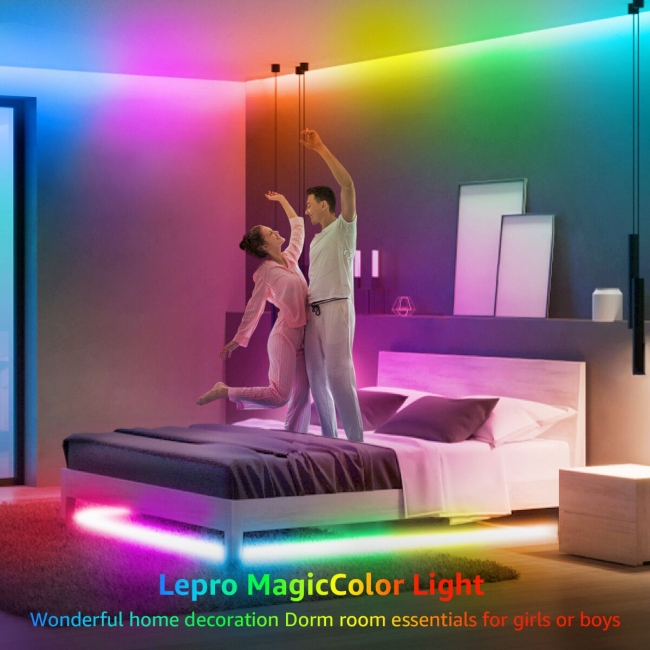 led strips with running effect