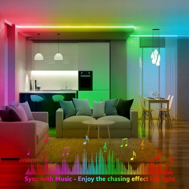 LED Strip Lights with Chase Effects