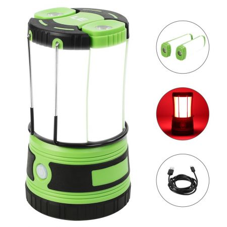 LED USB Rechargeable Camping Lamp Hiking Tent Ceiling Light Emergency Lantern