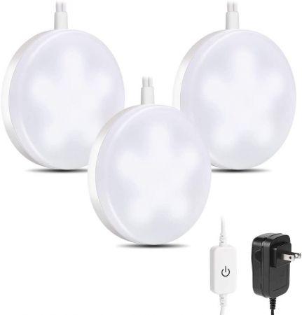 Under Cabinet Led Puck Light Kit Daylight 6000k 3 Deluxe Kit Le