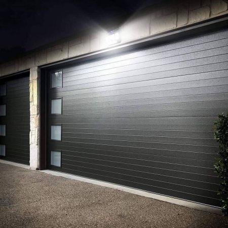 Lepro 4 Pack Solar Motion Sensor, Garage Outdoor Lighting