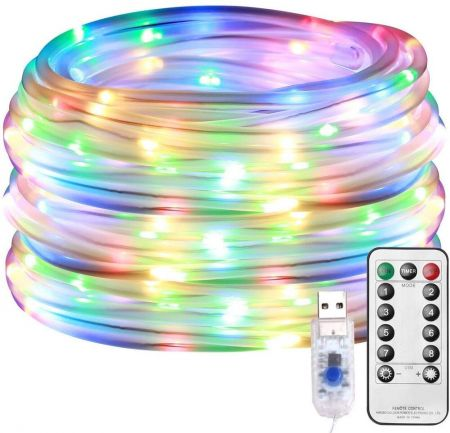 Rgb Led Rope Lights Dimmable, Led Outdoor Rope Lights